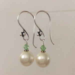 Jewelry - 3 for $25 Peridot Pearl Earrings